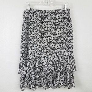 Ann Taylor Side Zip Ruffle Skirt